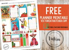 Free Cinco De Mayo Planner Stickers from Victoria Thatcher