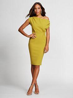 934f8abc134 NY amp C  One-Shoulder Ponte Sheath Dress - Gabrielle Union Collection  Gabrielle Union