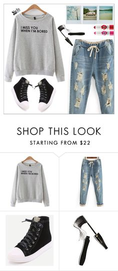 """Shein"" by simona-altobelli ❤ liked on Polyvore featuring Polaroid and Lancôme"