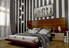 Chambres éblouissantes avec des murs rayés ~ Décor de Maison / Décoration Chambre