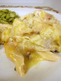 Chicken and dumplin's casserole.  Sounds so quick and easy - comfort food.
