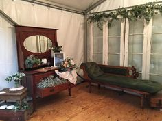 How to do potable toilets for a marquee wedding. Make it a beautiful bathroom