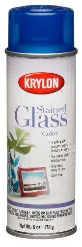 Krylon 9021 Stained Glass Color Glass Paints Aerosol, 6-Ounce, Blue Finish Krylon http://smile.amazon.com/dp/B003WRDD98/ref=cm_sw_r_pi_dp_qt36tb08D1EQ8