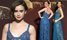 Lily Collins oozes glamour in blue gown at Chinese film awards