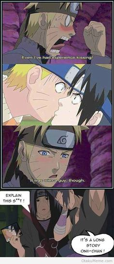 naruto talking about his kiss with sasuke