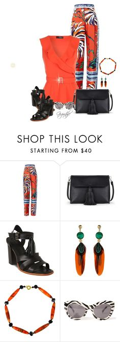 """""""Tassel Bag and Shoes"""" by gigisstyle ❤ liked on Polyvore featuring Emilio Pucci, Sole Society, Whistles, Gas Bijoux and Cheap Monday"""