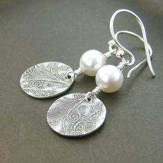 Pearl+Earrings+Winter+Finds+Gifts+for+Her+June+by+JenniferCasady,+$33.00