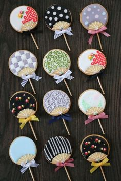 Mini uchiwa icing cookie