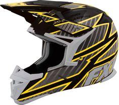 FXR Racing - Snowmobile Gear - X-1 Helmet - Black/Yellow Snowmobile Helmets, Boston Sports, Riding Gear, Dirtbikes, Winter Sports, Black N Yellow, Golf Bags, Bicycle Helmet, Atv