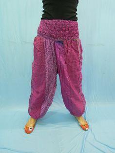Women Harem Trouser Pants Baggy Genie Fisherman man by Labhanshi, $25.00