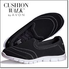 AVON'S Cushion Walk® Casual Everyday Shoe This versatile style is as comfy as it gets. Cushion Walk® footbed and mesh collar. Lightweight, flexible, easy to slip on and off. Man-made materials. Half sizes, order one size up. Price: $29.99 $24.99 each pair. Order here: www.youravon.com/mhamilton39