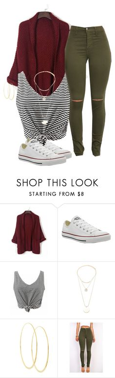 """What you want in life? I want them commas 🤑🤑"" by xposed-nothings ❤ liked on Polyvore featuring Converse, Forever 21 and Lana"