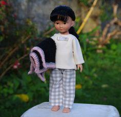 vêtements pyjama veste et pantalon pour poupée type les Chéries de Corolle 32/33 cm
