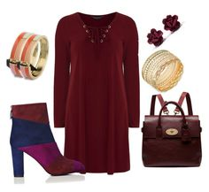"""Burgundy Spirit"" by christine-marie-turcu on Polyvore featuring Dorothy Perkins, L.K.Bennett, Mulberry, GUESS, women's clothing, women's fashion, women, female, woman and misses"