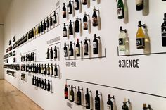 In the San Francisco museum of modern art, the wine wall displays the importance of graphical labels.