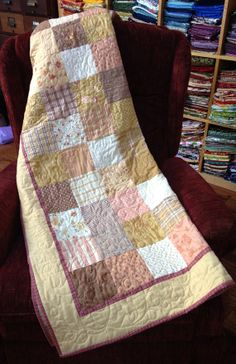 Warm and cuddly lap charm quilt with flannel back by ErinHolmqvist, $225.00