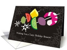 Christmas Holiday Cards, Catering shrimp appetizers card (866467)
