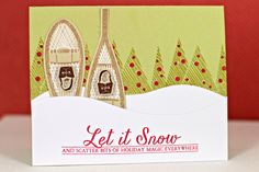 Let It Snow Card by Erin Lincoln for Papertrey Ink (September 2013)