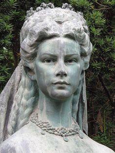 Sissi - Empress Elizabeth of Austria. A Statue of her in Budapest.