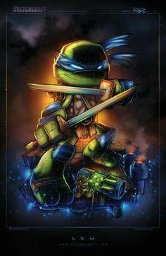 Leo - Teenage Mutant Ninja Turtles - Created by Rob Duenas Ninja Turtles Art, Teenage Mutant Ninja Turtles, Comic Books Art, Comic Art, Dreamworks, Chibi, Tmnt Leo, Pics Art, Gi Joe