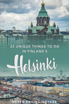For all the top things to do in helsinki, finland, don't miss this post! European Destination, European Travel, Helsinki Things To Do, Cool Places To Visit, Places To Travel, Finland Travel, Finland Trip, Visit Helsinki, Baltic Cruise