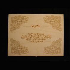 engraved 'name' box £25.00