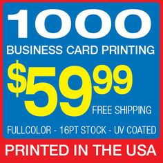 70 best printing on ebay images on pinterest offset printing 1000 business card printing custom 16pt glossy uv coated wajeb Choice Image