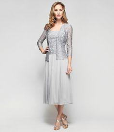Alex Evenings Swirl Jacket Dress | Dillard's Mobile
