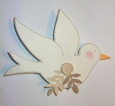 Easter Projects, Easter Crafts, Projects To Try, Peace Crafts, Embossed Cards, Happy Easter, Sewing Crafts, Origami, Applique