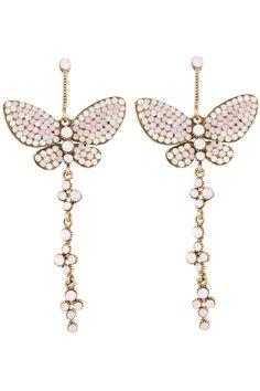 Cosette Crystal Butterfly Dangles