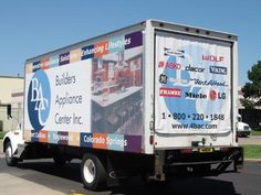 Using all 3 sides of a delivery truck is a great way to be seen by you potential customers.