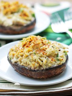 Delicious & Healthy Crab Stuffed Mushrooms