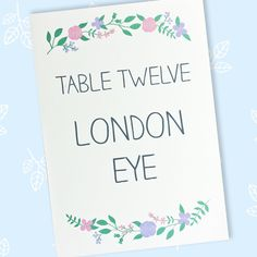 The Merry Meadow Flowers wedding table name or number card stands on tables at the reception. Wedding Table Name Cards, Wedding Table Flowers, Floral Wedding, Wedding Colors, Wedding Events, Wedding Reception, Wedding Day, Meadow Flowers, Wedding Stationery