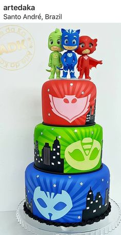 Birthday cake boys pj masks ideas for 2019 Pj Masks Birthday Cake, 3rd Birthday Cakes, 4th Birthday Parties, Boy Birthday, Birthday Presents For Men, Birthday Themes For Boys, Diy Birthday Decorations, Birthday Ideas, Torta Pj Mask