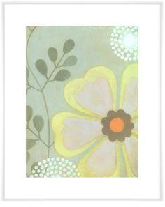 Green Flower, Floral Art Prints | Oopsy daisy