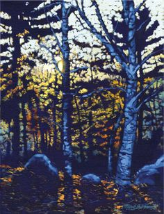In the Woods #landscape #painting. Adirondack art. www.markvernaart.com