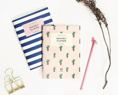 A6 Monthly Planner Notebook Ver.2 / Monthly Diary / Monthly