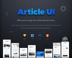 Article UI on Behance