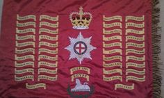 1st Battalion Coldstream Guards –Regimental Colours. Military Flags, Military Units, Military History, British Army, Badges, Irish, Empire, Patches, Colours