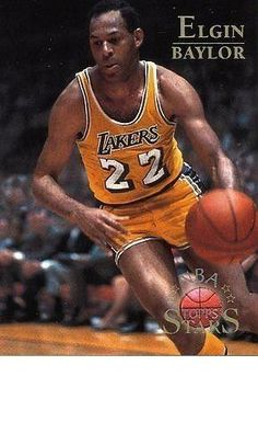 RARE 96/97 TOPPS NBA STARS ELGIN BAYLOR LOS ANGELES LAKERS MINT
