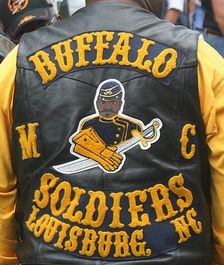 """Kenneth """"Dreamaker"""" Thomas founded the Buffalo Soldiers Motorcycle Club of Chicago October 1, 1993. He believed that it was time to establish a modern progressive motorcycle club whose focus was to promote a positive image among African Americans that would be respected in the community and throughout the country."""