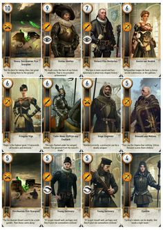 Witcher gwent cards