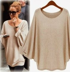 Amazing Oversized Beige Pancho with Accessories, Love It