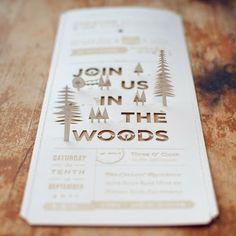 HADLEY DESIGNS: Christine + Ian's Woodland Wedding Invitations