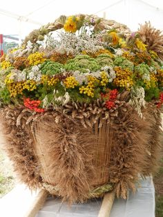 Folklore, Poland, Wreaths, Fall, Green, Decor, Autumn, Decoration, Decorating
