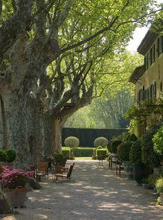 Now this is a place we'd want to linger and languish in the cool shade... | Via Dominique Lafourcade | pinned via @Shauna (VI Fit Network) Nemetz Day Foundation