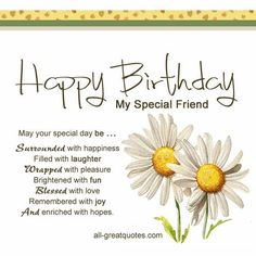 On this page you will find a collection of happy birthday poems for friends. Check out these Happy Birthday poems for friends if it is your pal's birthday. Birthday Wishes Greeting Cards, Happy Birthday Wishes For A Friend, Birthday Message For Friend, Birthday Verses, Birthday Wishes For Friend, Wishes For Friends, Birthday Blessings, Happy Birthday Messages, Birthday Images