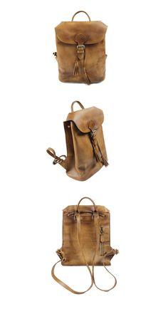 Women Leather Backpack Travel Backpack School Backpack
