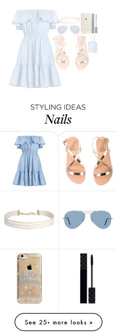 """""""Blue..."""" by elsakaram on Polyvore featuring Ancient Greek Sandals, Agent 18, Ray-Ban, Humble Chic and Gucci"""