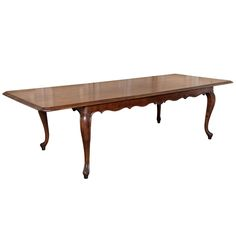 Vintage Provincial Fruitwood Banquet Table HEIGHT:31 in. (79 cm) WIDTH:9 ft. (274 cm) DEPTH:42 in. (107 cm) DEALER LOCATION:Baton Rouge, LA | From a unique collection of antique and modern dining room tables at https://www.1stdibs.com/furniture/tables/dining-room-tables/